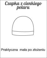 czapka z cienkiego polaru